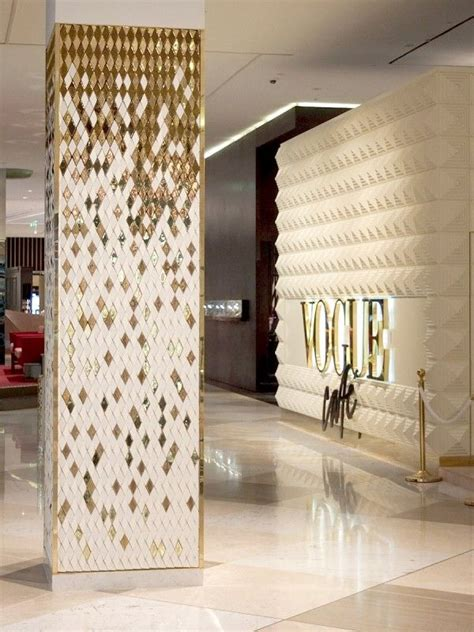 interior column designs love the tile wall with the diamonds love the column and