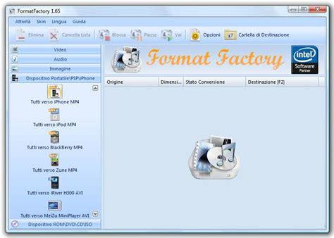 format factory italiano per mac download formatfactory in italiano per convertire video e