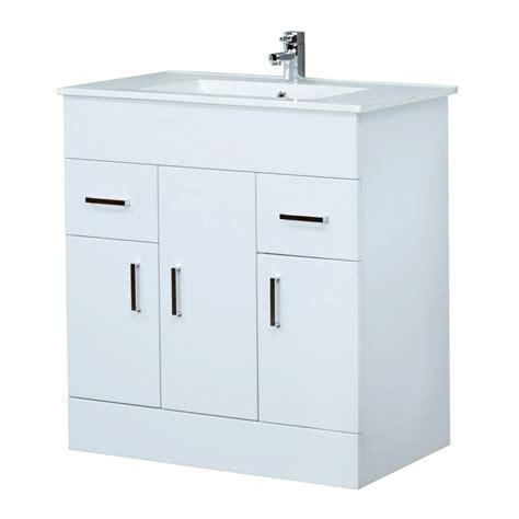 minimalist vanity milano 800mm minimalist white gloss vanity unit