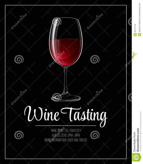 Wine Tasting Flyer Template Vector Illustration Stock Vector Image 55777144 Wine Tasting Event Flyer Template Free