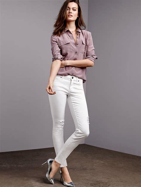 tall thin tall white skinny jeans bbg clothing