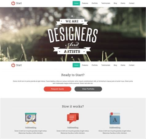 31 one page website themes templates free premium