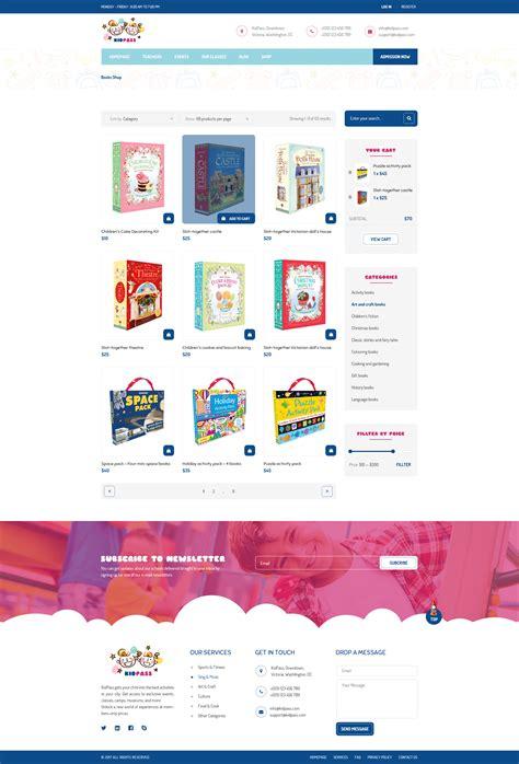 kidpass education psd template by pixartthemes themeforest
