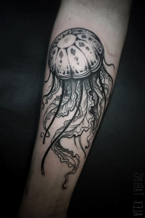 black and grey jellyfish tattoo box jellyfish tattoo men www imgkid com the image kid