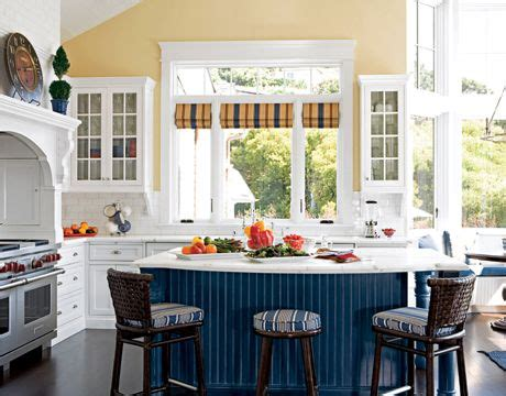 Kitchens With Bars And Islands Happiness Now Casual Kitchens Yellow Kitchen Designs
