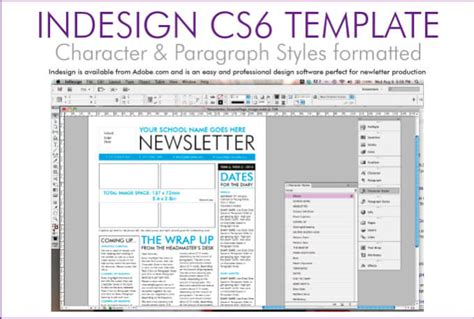Customise A Newsletter Template In Indesign By Mishydee Indesign Cs6 Templates