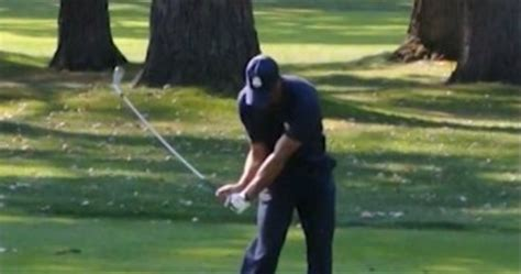 tiger woods slow motion swing 2012 tiger woods golf swing video 2012 down the line view