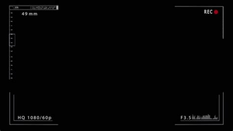 format video rec dslr record camera screen transparent background stock