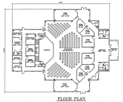 church floor plans online church plan 123 lth steel structures