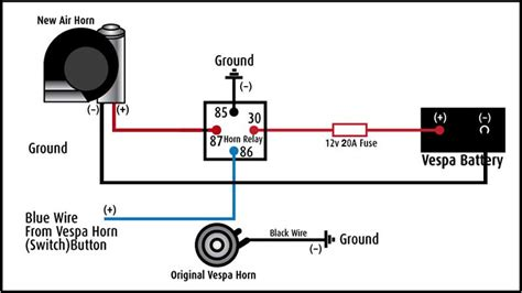 horn wiring diagram get free image about wiring