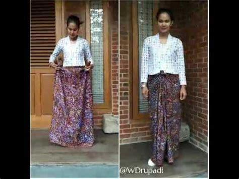 tutorial ikat kain batik cara memakai kain batik sarung yang baru dan tutorial