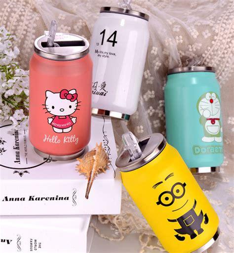 Botol Thermos Kartun Dengan Penyaring 500ml botol minum kaleng termos insulated mug 300ml thermos pink jakartanotebook