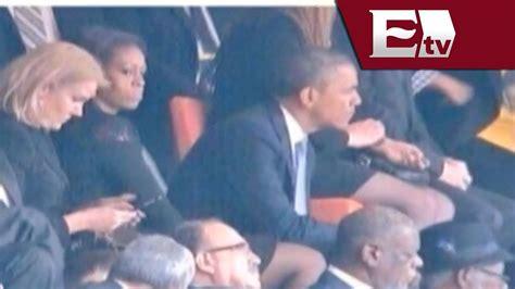 imagenes comicas de obama michelle obama marca un alto a las risas entre la rubia y