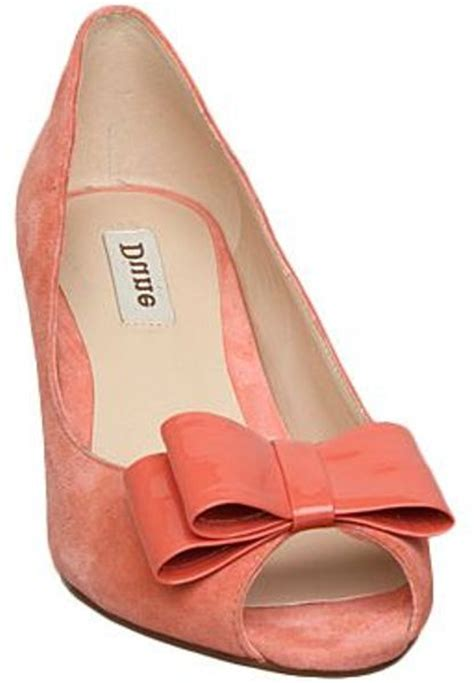 dune chime d suede court shoes in pink coral lyst