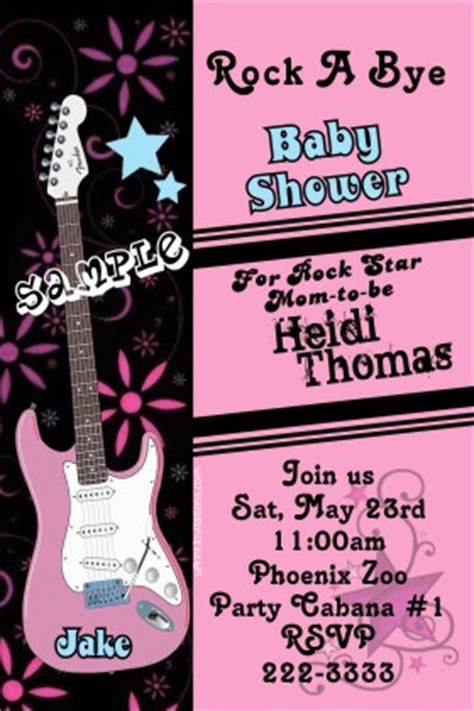 free printable rock star baby shower invitations rock star baby shower invitations