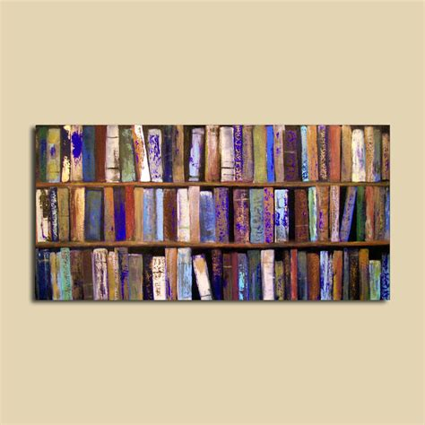 the picture book contemporary abstract painting library books 24 x 48 by contemporaryearthart
