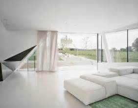 white home interior futuristic villa in vienna