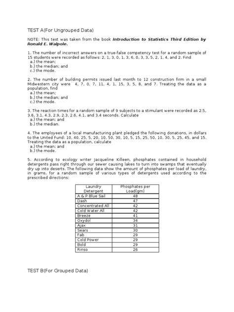 Measures Of Central Tendency Worksheets by Uncategorized Central Tendency Worksheets