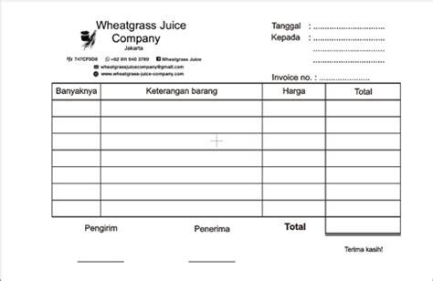 nota bon faktur kwitansi invoice percetakan di malang