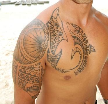 dolphin tattoos for men dolphin tribal on chest and shoulder