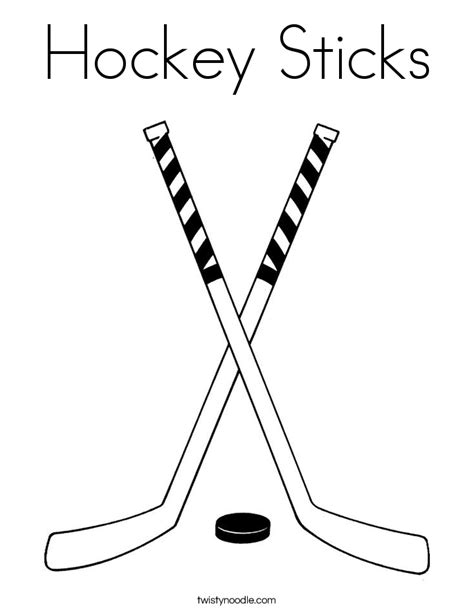 coloring pages of a hockey stick hockey sticks coloring page twisty noodle