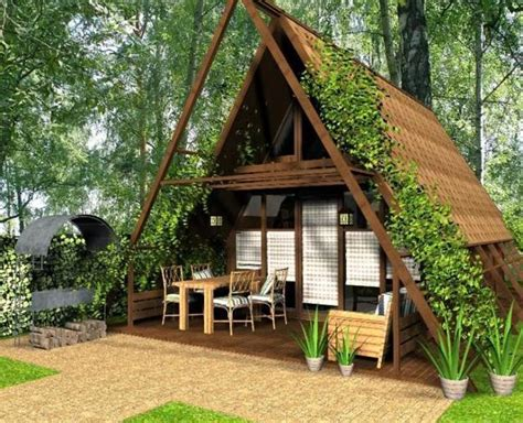 Cute Small House Designs With Gable Roofs And Triangular A Tiny House Roof Plans
