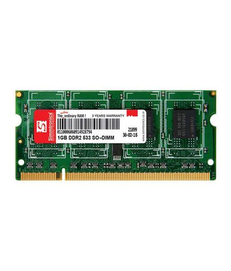 Ram 1 Giga simmtronics 1 gb ddr2 laptop ram 533 mhz buy simmtronics 1 gb ddr2 laptop ram 533 mhz