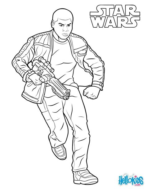coloring pages wars awakens finn the awakens coloring pages hellokids