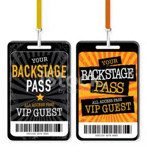 Backstage Pass Template by Set Of Backstage Pass Template Designs Stock Photos