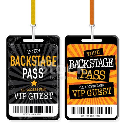 vip backstage pass template set of backstage pass template designs stock photos