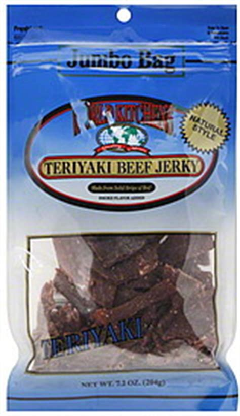 world kitchens beef jerky natural style teriyaki jumbo