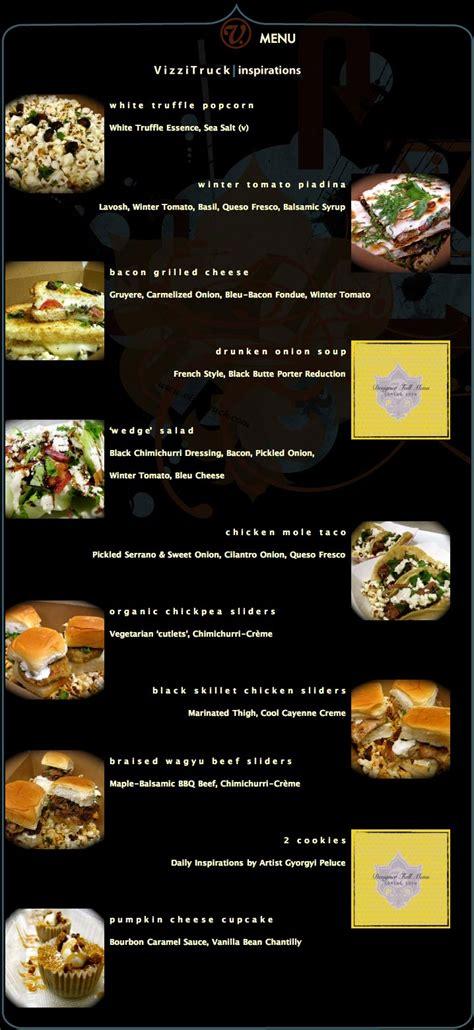 Kitchen La Food Truck Menu by Vizzi Truck Food Truck Menu