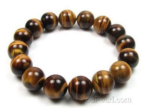 Gte036 Gelang Tiger Eye 12mm tiger eye stretchy bracelet for sale 12mm pearl jewelry wholesale