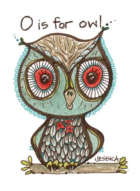 Owl Limited o is for owl limited edition print childrens