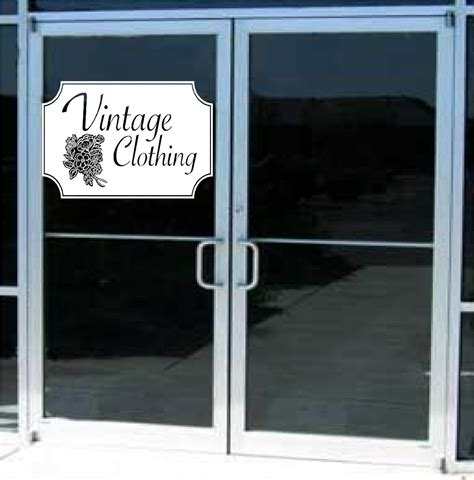 Auto Decals For Business by Vintage Clothing Business Sign Vinyl Decal Sticker Sign