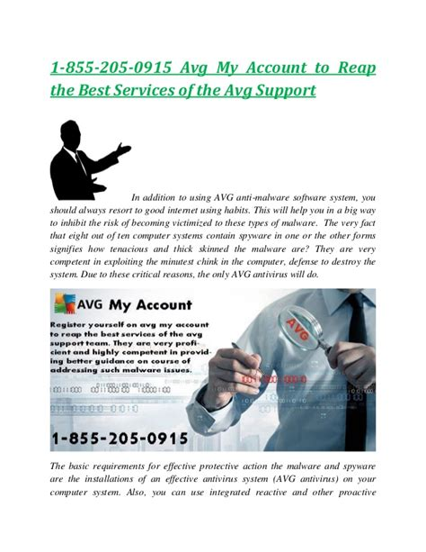 Avg My Account by 1 855 205 0915 Avg My Account To Reap The Best Services Of