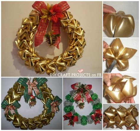 wreaths crafts projects diy plastic bottles wreath diy craft projects