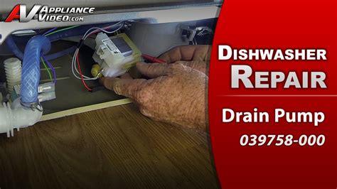 standing water in bathtub drain viking fdw100 dishwasher appliance video