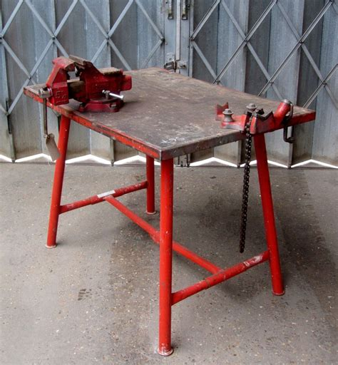 Ridgid Work Bench ridgid 1400 pipe fitters work bench with ridgid chain vice