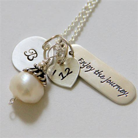 college graduation necklace graduation gift by whiteliliedesigns