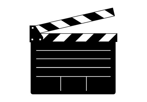 Free Clapper Board Vector Clapboard Template