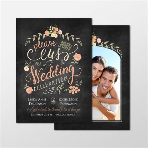 customized wedding invitation cards free custom personalized digital wedding invitation photo cards