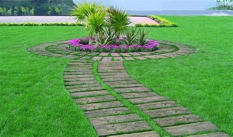 decorar jardines con piedras y madera free jardines con