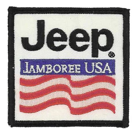 jeep jamboree logo embroidered business logo patches american patch