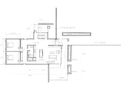 kaufmann desert house floor plan kaufmann house floor plan