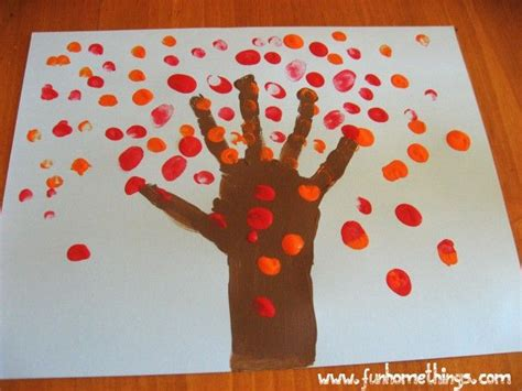 harvest craft ideas for fall crafts for handprint fall tree paint colors
