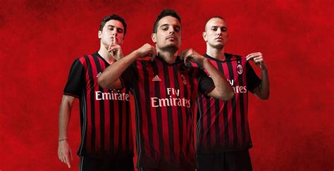 Ac Milan Home Ls 20162017 ac milan home kit 2016 2017 footy boots