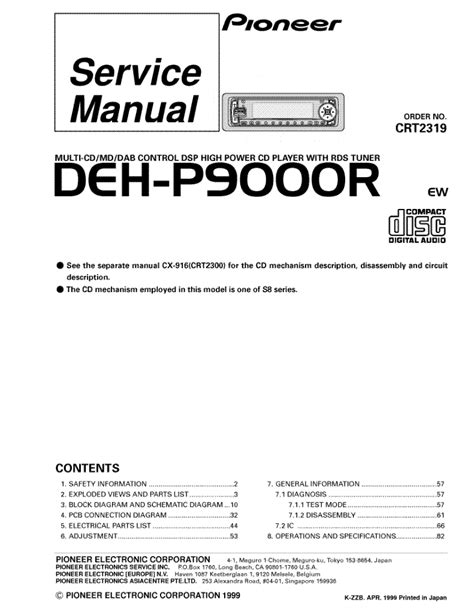 service manual what is the best auto repair manual 2007 suzuki reno auto manual back cover pioneer deh p9000r