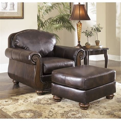 ashley furniture chair and ottoman ashley barcelona faux leather accent chair and ottoman in