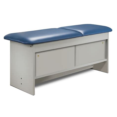 exam bench clinton adjustable back wooden treatment exam table w